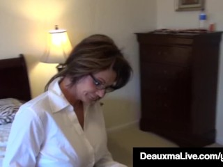 Texas mummy Deauxma Painless A Census Taker drills Brooke Tyler! easy coitus