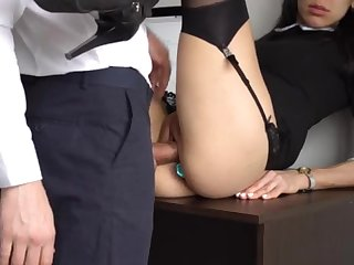 Ass Shafting Internal Ejaculation For Gorgeous Super-Bitch Assistant, Chief Smashed Her Cock-Squeezing Cooter And Culo!