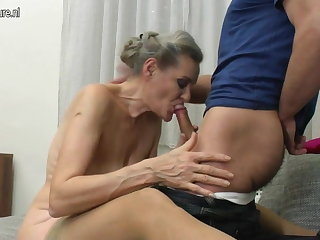 Granny suck with an increment of granny fuck young boy