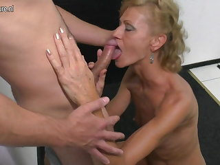 Son licks coupled with fucks hot mature not his mom