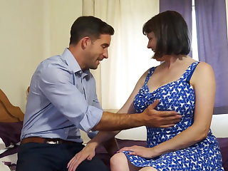 Of age busty unsophisticated mom fucks lion-hearted boy
