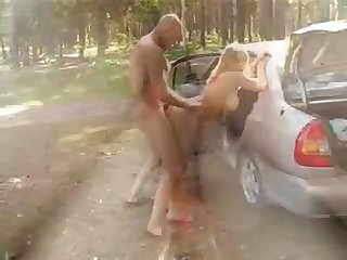 Busty Blonde Russian Teen Ass Fuck on every side Auto