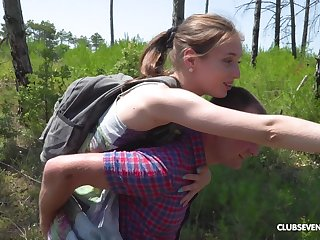 Outdoor missionary turtle-dove and a blowjob with teen blonde cutie Vika Lita