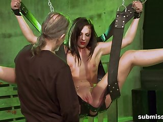 Teen gets pussy ripped encircling maledom XXX