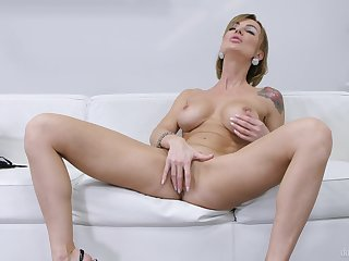 Gorgeous females in raw scenes of just on the couch