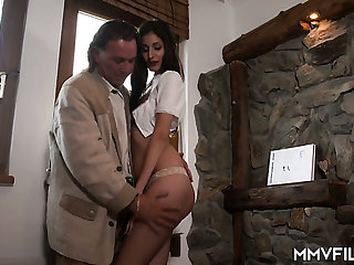 German village slut Coco Kiss gets fucked in an obstacle alpine hut by doyenne cadger