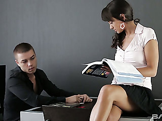 Naughty private young tutor gets lured by lusty stud for some steamy sex