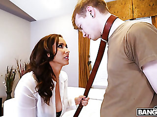 Bad fellow-worker gets punished by fantastic curvy nympho Isis Love