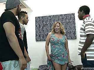 Raunchy of age slut Karen Summer gets gangbanged like never before