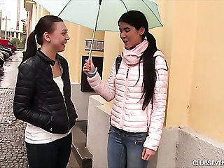 Slim cute Foetus D invites her female friend to steamy lesbian intercourse