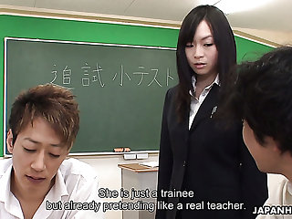 Poor trainee gets her private abroad diseased by her students in the lecture bailiwick