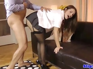 Alluring nubile dickblowing fortunate doyen
