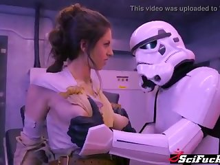 Stella Cox got her cooch plumbed encircling Starlet Wars porno burlesque