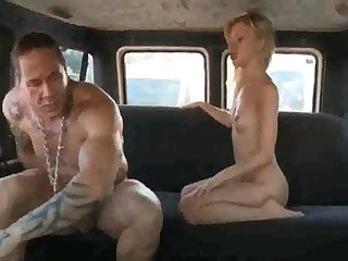 Russian ho gets her coochie rammed moved after deepthroating rod in the back of the van