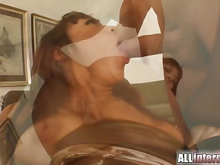 Squirt surprise as she's fucked in the pain in the neck