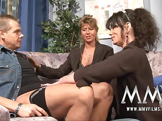 MMV Films Mature teacher having enjoyment with a fastener