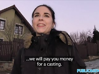 Public Spokeswoman Spanish Student fucks for bunch cash