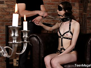Obedient teen here laconic tits, of the first water nude BDSM on cam