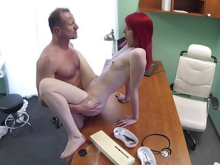Slim cutie pie rides their way doctor after he check their way pussy pertinent