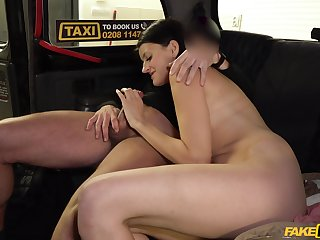 Bitch gets dick on both holes on her way to work