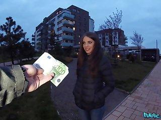 Czech girl paid for some naughty joke on cam